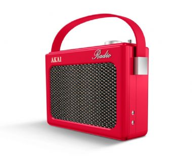 Akai Dab Radio - Red